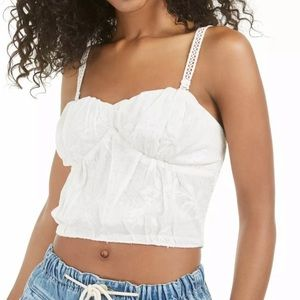 Free People Ivory Cropped top